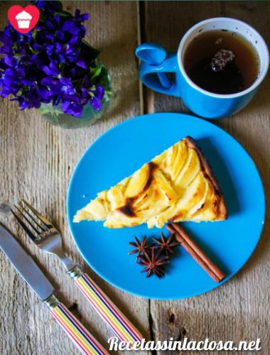 Receta de tarta de manzana sin lactosa