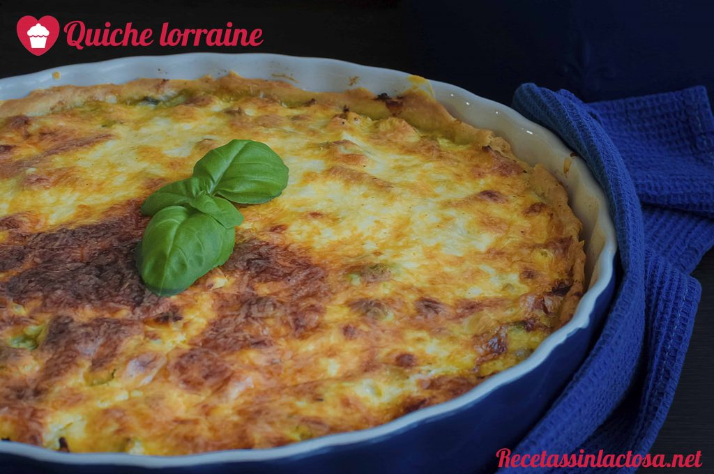 Receta sin lactosa Quiche Lorraine