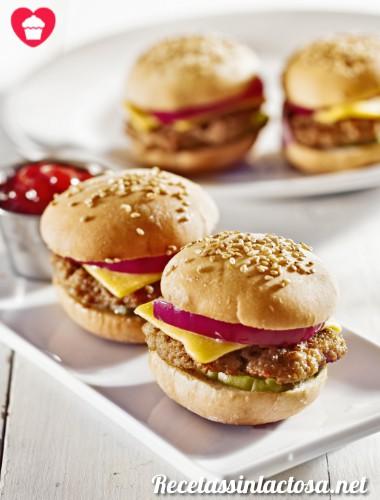 Receta de Mini Hamburguesas sin lactosa