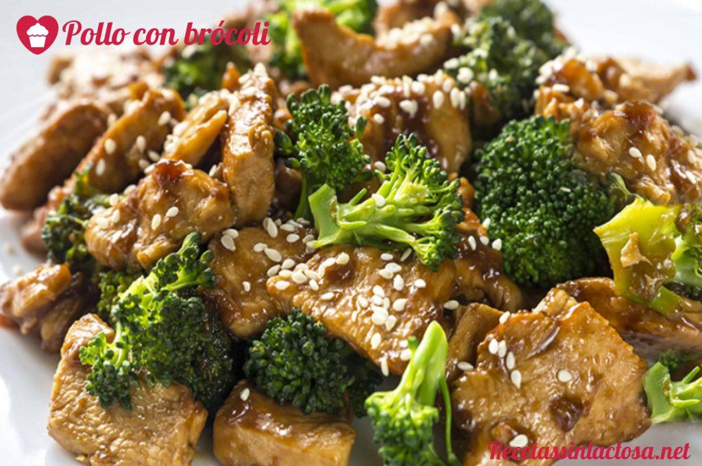 Receta sin lactosa de pollo con brócoli