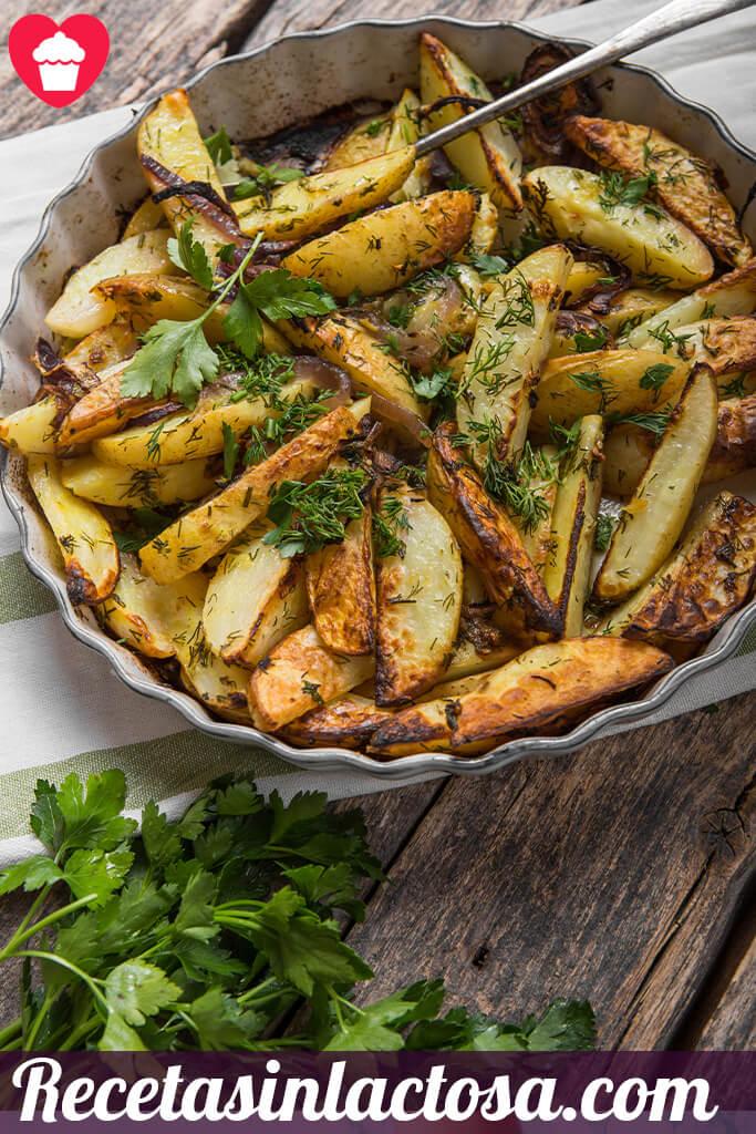 Receta Patatas fritas provenzal
