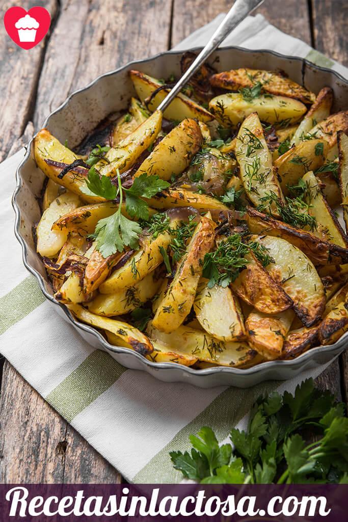 receta sin lactosa Patatas fritas provenzal