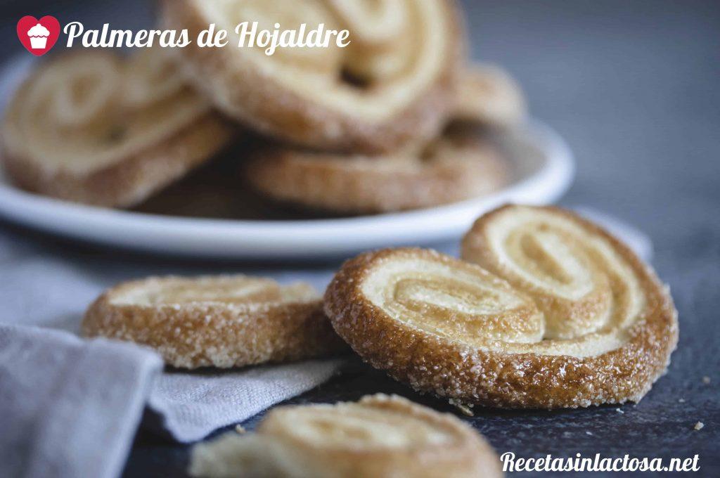 Receta palmeritas de hojaldre sin lactosa