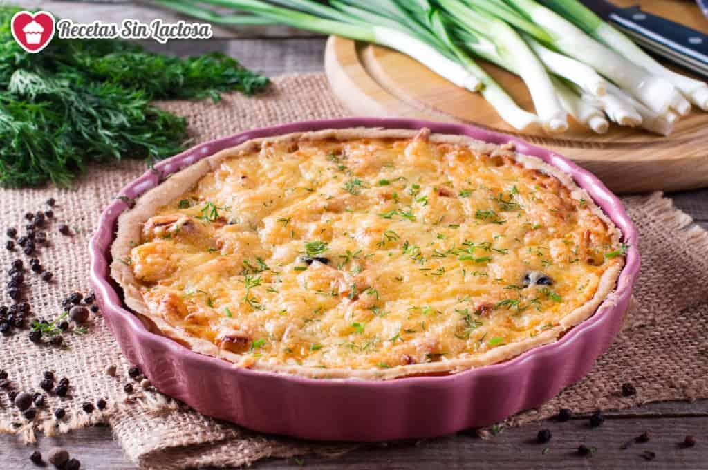 Receta de Quiche de verduras sin lactosa