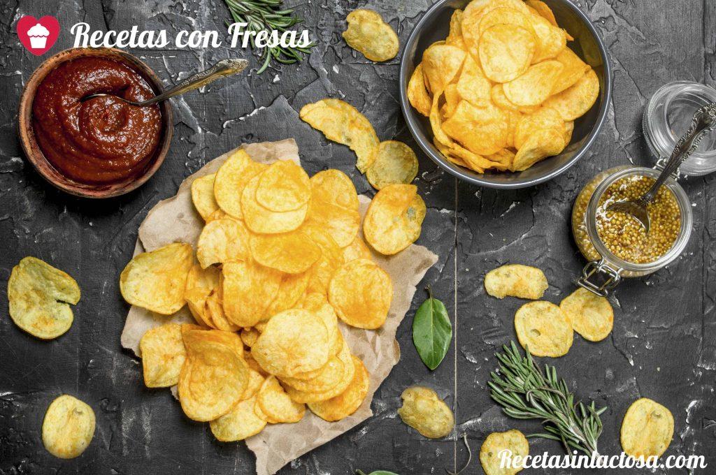 Patatas fritas con pimienta y limon