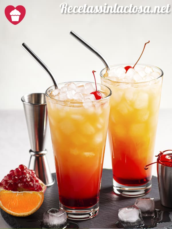 Receta Coctel Tequila Sunrise