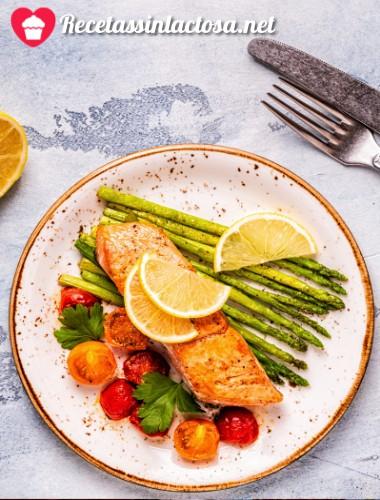 Receta de salmón agridulce sin lactosa
