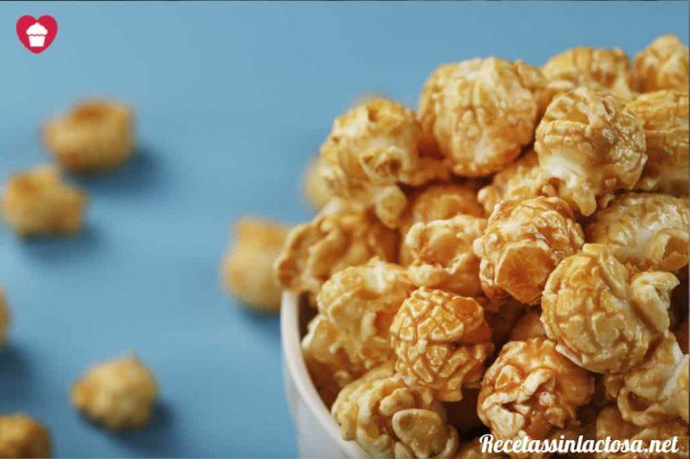 Palomitas de maiz dulces sin lactosa