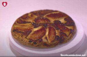 Receta de tarta de manzana sin horno ni lactosa
